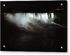 Niagara Falls By Night Acrylic Print by Ayse and Deniz