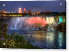 Niagara Falls Canada Sunset  Acrylic Print