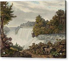 Niagara Falls Circa 1829 Acrylic Print by Aged Pixel