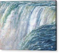 Niagara Falls Acrylic Print by David Stribbling