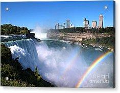 Niagara Falls Double Rainbow Acrylic Print