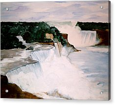 Acrylic Print featuring the painting Niagara Falls by Ellen Canfield