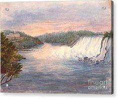 Niagara Falls From Table Rock 1846 Acrylic Print by Padre Art