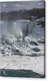 Niagara Falls Ice Buildup - American Falls New York State U S A Acrylic Print