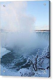 Niagara Falls -  Minus 20 C Acrylic Print by Phil Banks