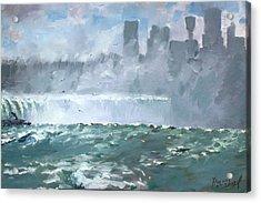 Niagara  Falls Mist  Acrylic Print