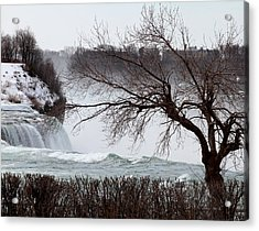 Acrylic Print featuring the photograph Niagara In Winter by John Freidenberg