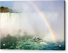 Niagara's Maid Of The Mist Acrylic Print by Adam Pender