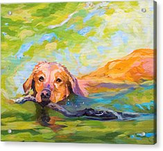 Nice Day For A Swim Acrylic Print by Janine Hoefler