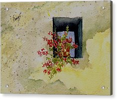 Niche With Flowers Acrylic Print by Sam Sidders