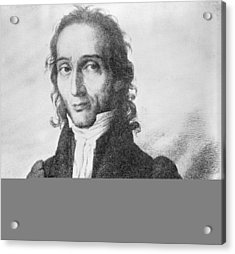 Nicholo Paganini, Italian Violinist Acrylic Print by Science Photo Library