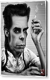 Nick Cave Acrylic Print by Andre Koekemoer