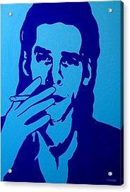 Nick Cave Acrylic Print by John  Nolan