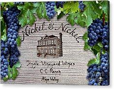 Nickel And Nickel Winery Acrylic Print