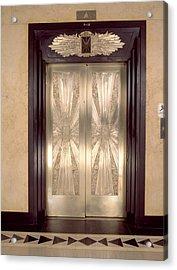 Nickel Metalwork Art Deco Elevator Acrylic Print