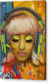 Nicki Minaj Acrylic Print by Corporate Art Task Force
