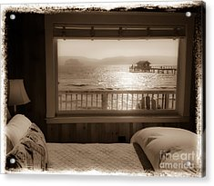 Dreamy Waterfront Cottage Acrylic Print by Amy Fearn