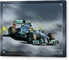 Nico Rosberg Mercedes Benz Acrylic Print