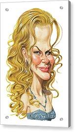 Nicole Kidman Acrylic Print by Art