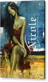 Nicole Scherzinger Acrylic Print by Corporate Art Task Force