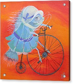 Acrylic Print featuring the painting Niece Sonia by Marina Gnetetsky