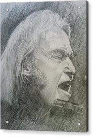 Niel Young Acrylic Print by Rich Alexander