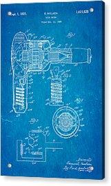 Nielsen Hair Dryer Patent Art 1929 Blueprint Acrylic Print by Ian Monk