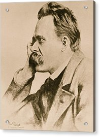 Nietzsche Acrylic Print by Anonymous