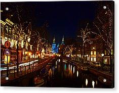 Nieuwe Spieglestraat At Night Acrylic Print