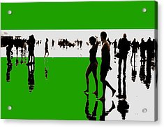 Nieuwjaarsduik 30 Acrylic Print by Xoanxo Cespon