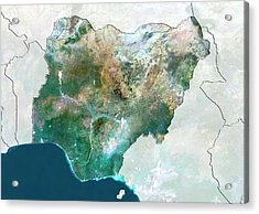 Nigeria Acrylic Print by Planetobserver/science Photo Library