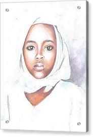 Nigerian Girl Acrylic Print by Jovica Kostic
