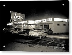 Night At Lee's Steak House Acrylic Print by Merle Junk