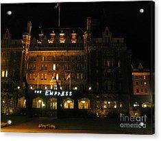 Night At The Empress Hotel Acrylic Print