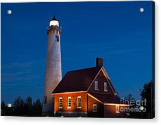 Night At The Lighthouse Acrylic Print