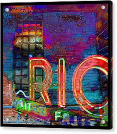 Night At The Rio Acrylic Print