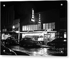 Night At The Spar Cafe At Night 1950 Acrylic Print