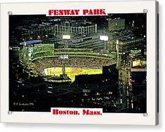 Night Baseball Fenway Park Boston Massachusetts Acrylic Print by A Gurmankin