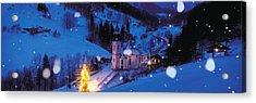 Night Bavaria Maria Gern Germany Acrylic Print by Panoramic Images