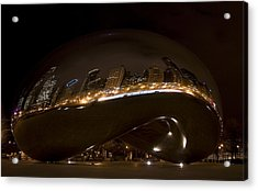 Night Bean Acrylic Print by Margaret Guest