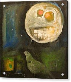 Night Bird Harvest Moon Acrylic Print by Tim Nyberg