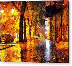 Night City Lights Acrylic Print