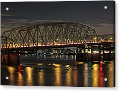 Night Crossing At I-5 Acrylic Print