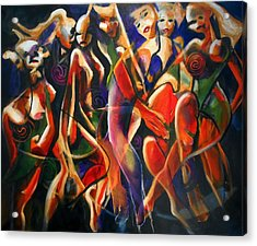 Acrylic Print featuring the painting Night Dance by Georg Douglas