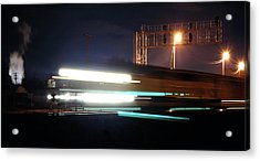 Night Express - Union Pacific Engine Acrylic Print by Steven Milner