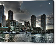 Night Fall At The Harbor Acrylic Print by Adrian LaRoque