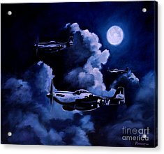 Acrylic Print featuring the painting Night Flight by Stephen Roberson