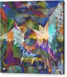 Night Flight Acrylic Print by Ursula Freer