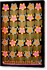 Night Flower-madhubani Paintings Acrylic Print