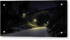 Night Hushed The Shadowy Earth Acrylic Print by Scott Norris